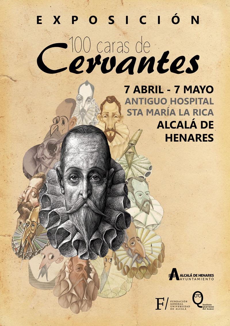 cartel 100 caras Cervantes