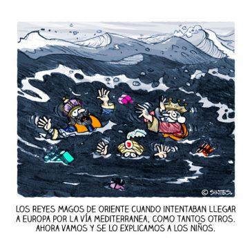 Los Reyes Magos morirían ahogados en el Mediterráneo
