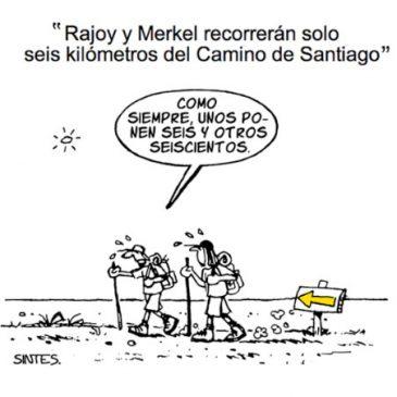Merkel y Rajoy en estado puro